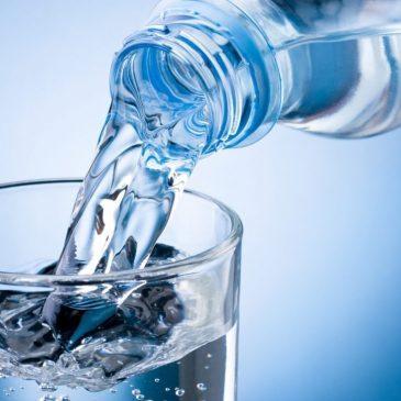 El agua pura es una buena señal.